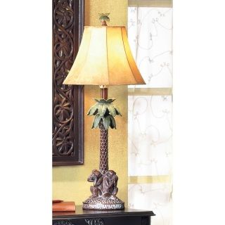 by Accent Plus Three lazy monkeys see, speak, and hear no evil as they sit at the base of a tropical palm in this wonderfully witty and whimsical table lamp!  Uses Type A, 60W light bulb or 7W LED light bulb (not included). www.allgooddecor.com/shop.html #allgooddecor #decorations #gifts #candles #toys #discount #furniture #candleholders #home #figurines #lighting #pictures #mirrors #jewelry #garden #clearance #kitchen #bedandbath