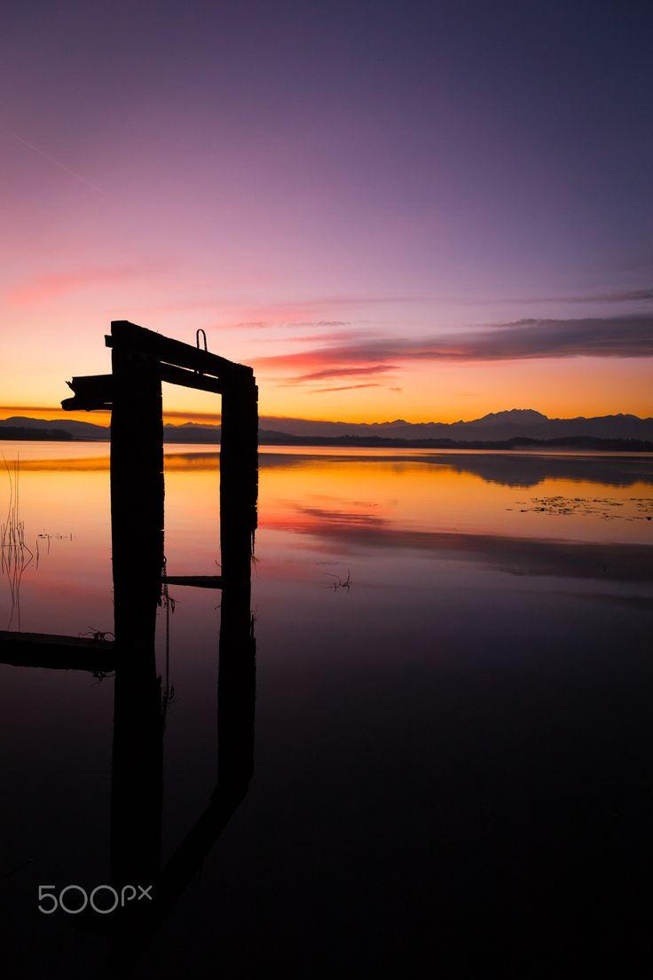 Sunset, Lake Varese by Alessandro Bianchi #reflection