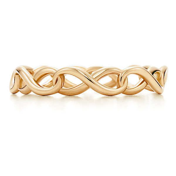 Tiffany Infinity Band Ring ($650) ❤ liked on Polyvore featuring jewelry, rings, accessories, joias, yellow gold band ring, 18k yellow gold ring, gold infinity ring, gold jewelry and band jewelry