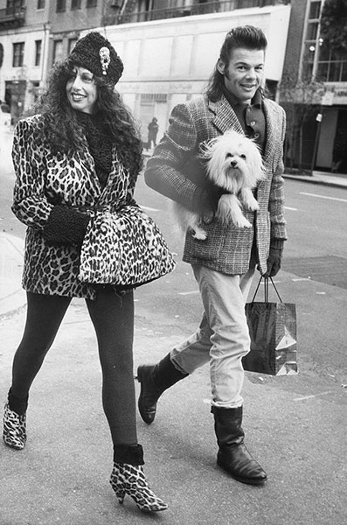 Isabella Blow stepping Out In Wild Spots of Fake Fur, December 17 1989 (but not published until December 2005) Photograph: Bill Cunningham/The New York Times