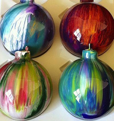melted crayon christmas ornaments diy christmas ornaments bob