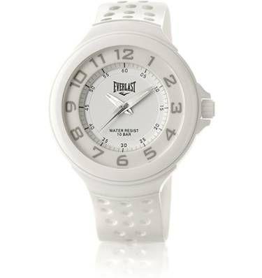 relógio analógico unissex branco everlast esportivo - relógios everlast