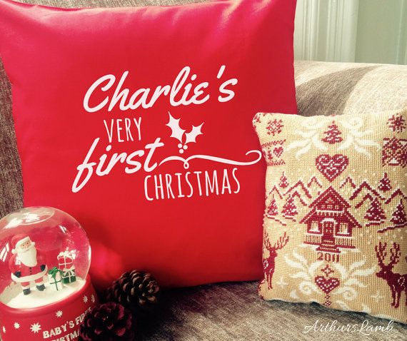First Christmas Cushion,1st Christmas Cushion Cover,Personalised Cushion,Cushion,Christmas Decorations,Christmas Decor,Christmas Gift Ideas