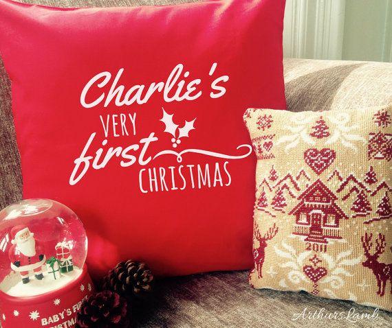 First Christmas Cushion,1st Christmas Cushion Cover,Personalised Cushion,Cushion,Christmas Decorations,Christmas Decor,Christmas Gift Ideas