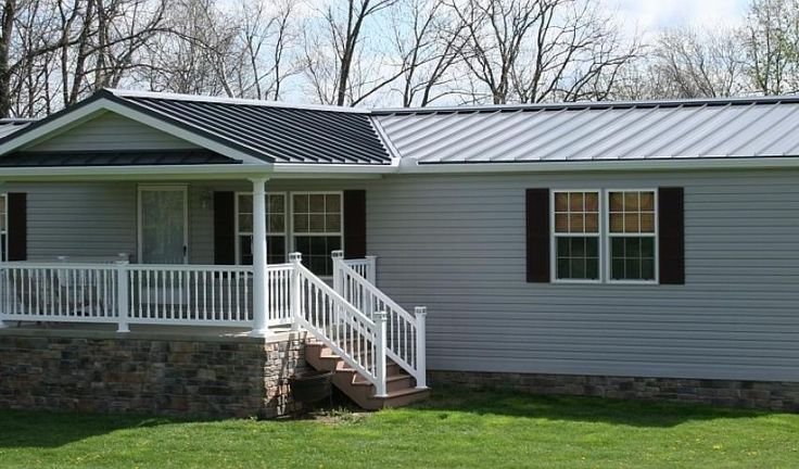 Mobile Home Back Porches With Roofs Yahoo Image Search Results Mobile Home Porch Mobile Home Exteriors Metal Roof Houses