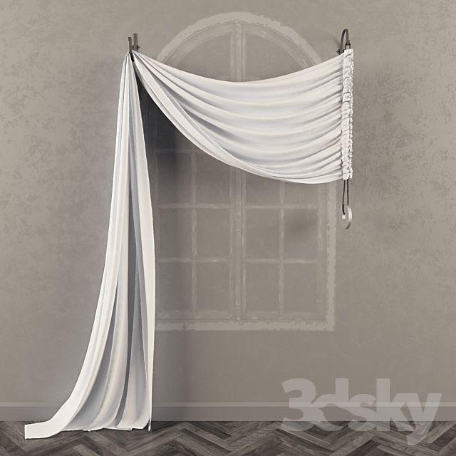 3d models: Curtain – Asymmetric curtain on the bra…