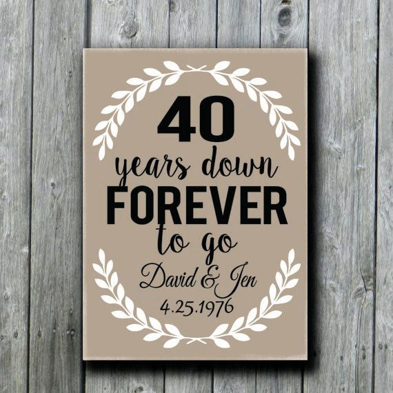 45th Wedding Anniversary Gift Ideas Parents : ... 45th, 50th Anniversary Gift, Parents Anniversary Gift, Wedding