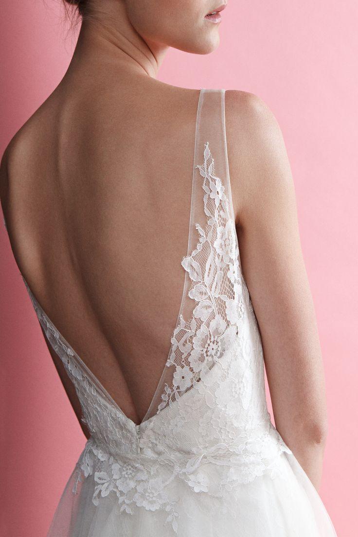 Flattering sexy back from Megan Dress - BECCAR 2015 Bridal