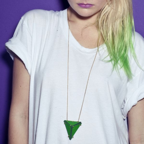 Green Hair /// Green Necklace
