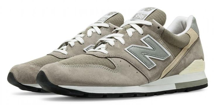 New Balance 996 Made in the USA Bringback M996 for Men, Grey/White ...