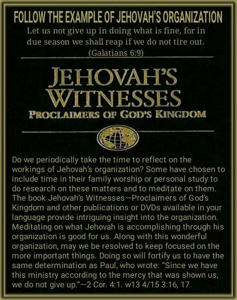 Articles on Jehovah's Witnesses