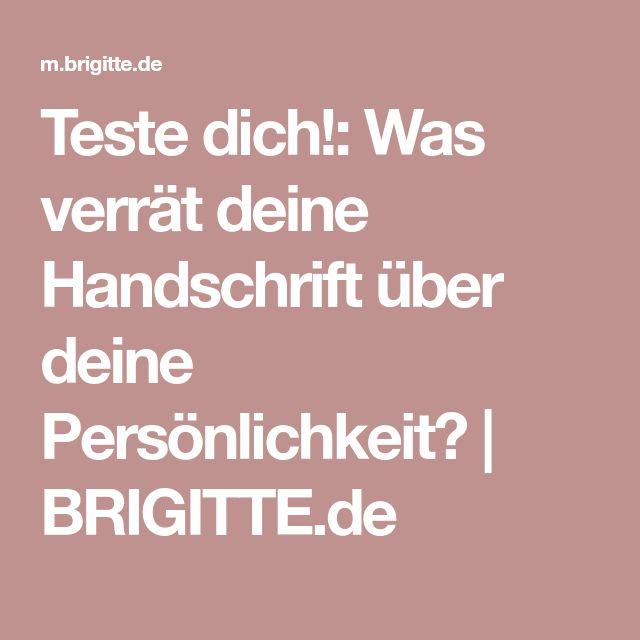 Teste dich!: Was verrät deine Handschrift über deine Persönlichkeit? | BRIGITTE.de
