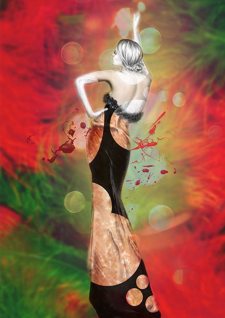 #fashion #illustration #model #skech #concept #art #design #digital #picture #photomontage #gown #body