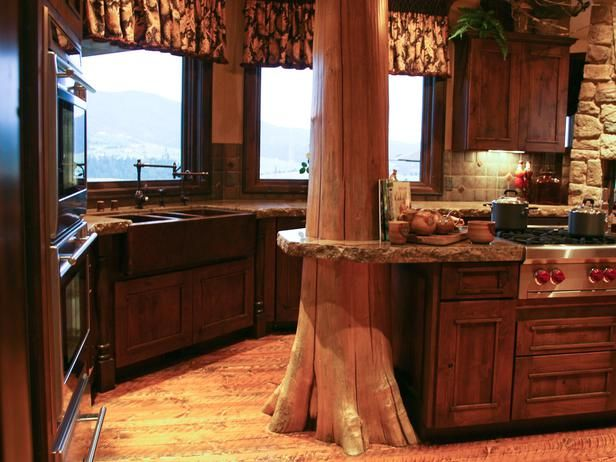 113 best images about my cabin is calling on pinterest - Cabin kitchen design ...