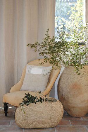 Love this.....: Plants Can, Terracotta Can, Cozy Corner, Interiors Design, Colors Palettes, Colors Schemes, Antiques Chairs, Planters, Baskets