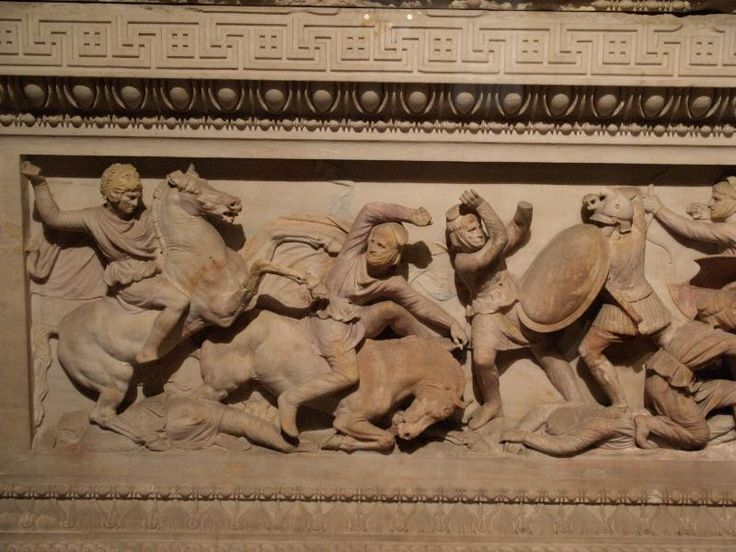 Istanbul, Turkey: Archaeology Museum: Alexander Sarcophagus