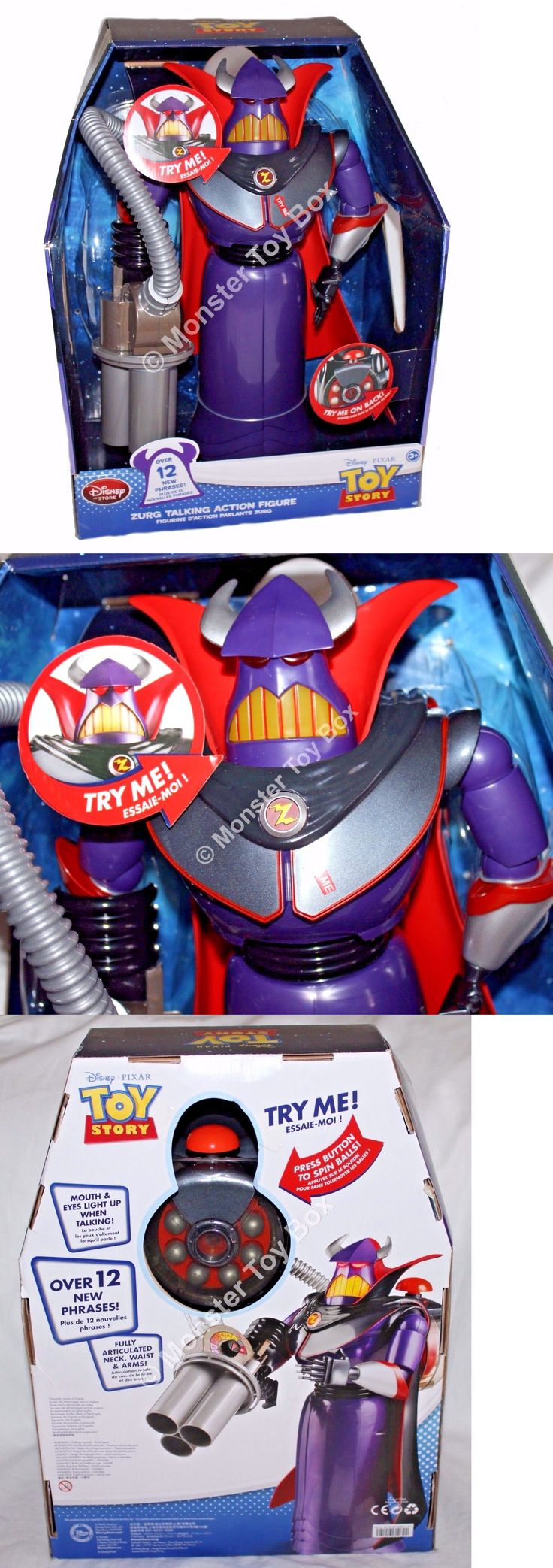 Toy Story 19223: Talking Zurg Action Figure Toy Story Pixar Disney Store Authentic Us Seller -> BUY IT NOW ONLY: $49.6 on eBay!