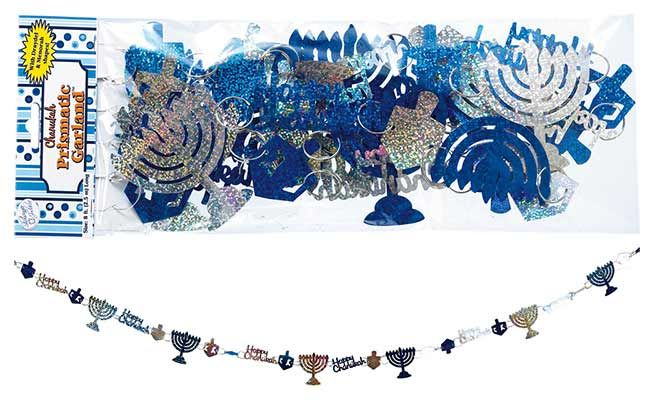 Decorations for Hanukkah including Garlands and strands for your Home or Office, Chanukah felt garland.