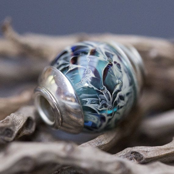 Fits Trollbeads Lampwork Glass Beads Big Hole by RebeccaCordingley