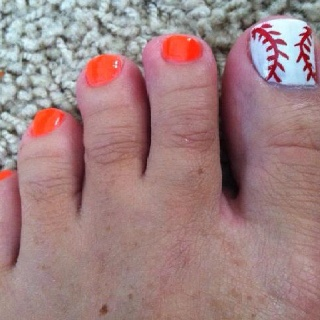 Orioles Nails - maybe alternate orange and black