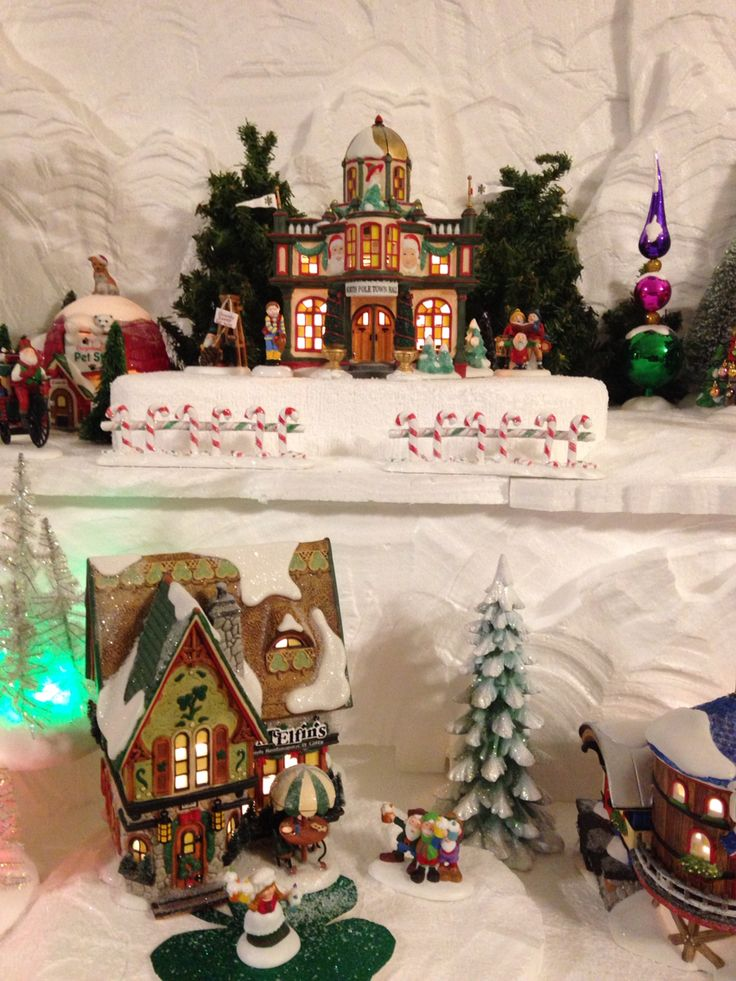 Town Hall and McElfin's Department 56 North Pole