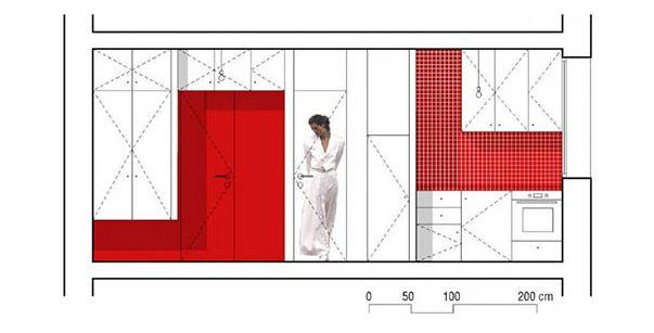 Дизайн маленьких квартир: квартира 25 кв м в Париже (фотогалерея)