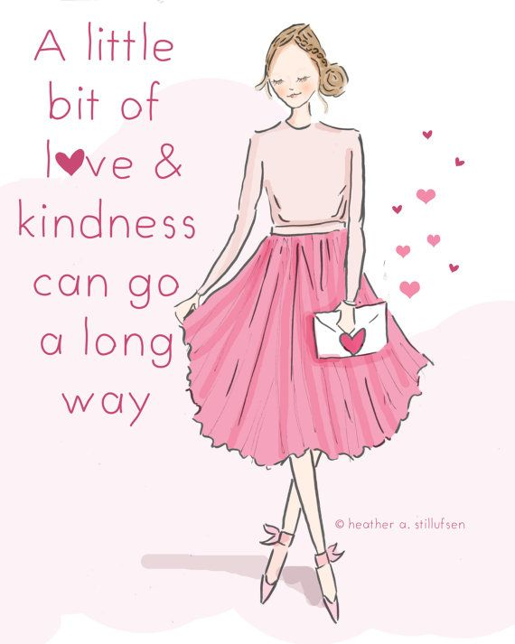 Wall Art for Women  A Little Bit of Love by RoseHillDesignStudio
