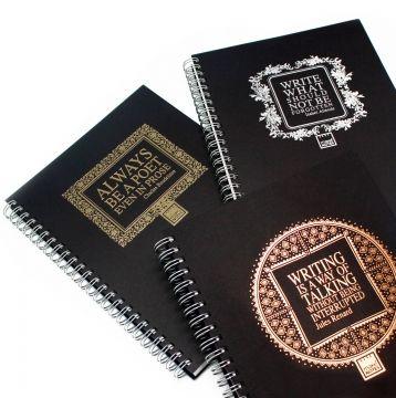 Make Notes Caderno A5 Espiral Coleção metálico