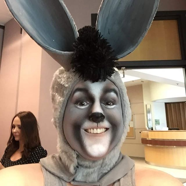 #donkey from #shrek  #makeupartist #makeup #cosplay #airbrush