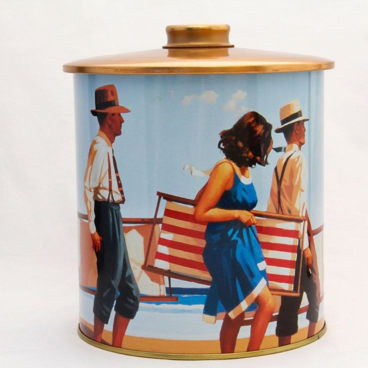 Jack Vettriano 'Sweet Bird of Youth' Biscuit Tin (empty) 7.75in Tall M&S