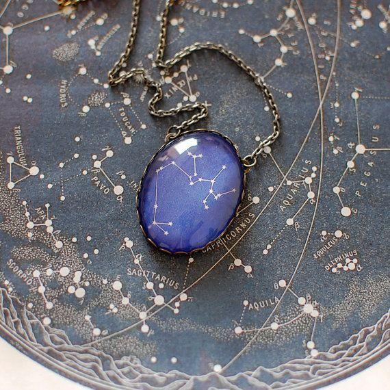 Sagittarius Constellation Necklace. Sagittarius di JujuTreasures