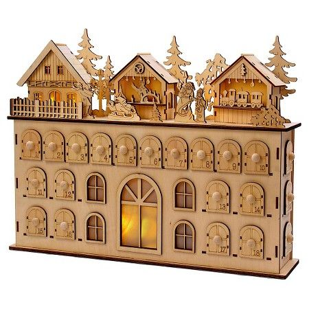 LED Wooden Christmas Advent Calendar : Target                                                                                                                                                                                 More