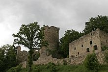 Prandegg Castle is a ruined hill castle in Austria, near the village of Schönau im Mühlkreis in the Freistadt District (which lies in the Mühlviertel area of Upper Austria).