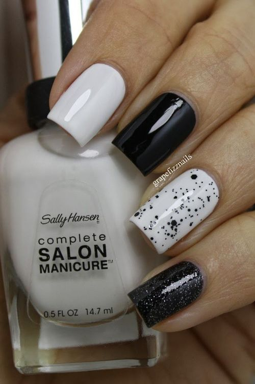 Cookies and creme nails