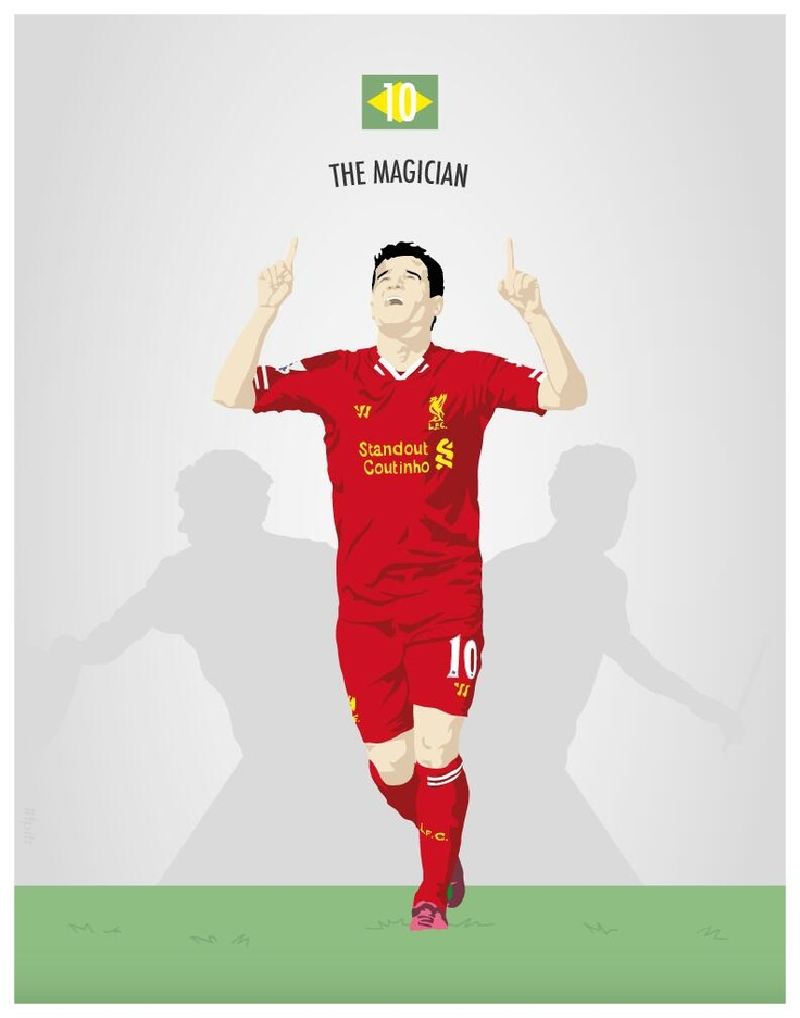 Such a top illustration of Philippe Coutinho by @Mark Van Der Voort Van Der Voort McKenny #LFC