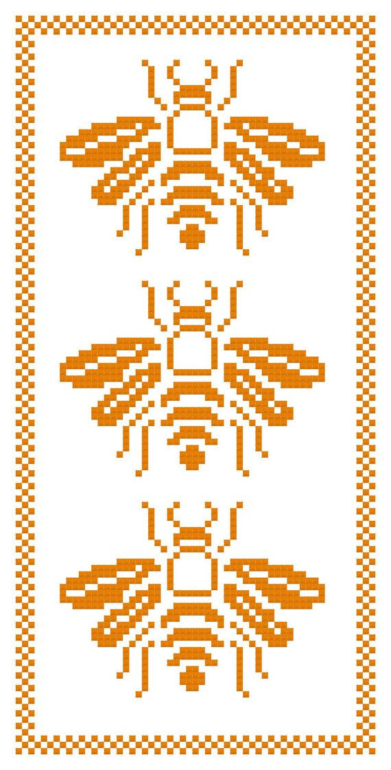 "[""We Three Bees  a Counted Cross Stitch Pattern by WooHooCrossStitch, $9.00""]"
