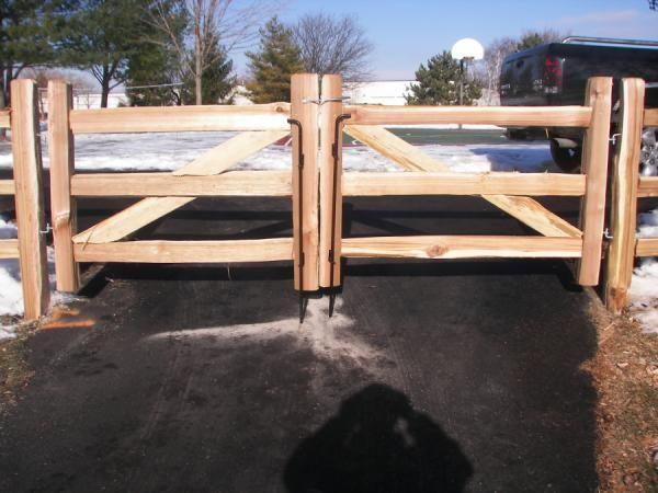 Build split rail fence gate woodworking projects plans