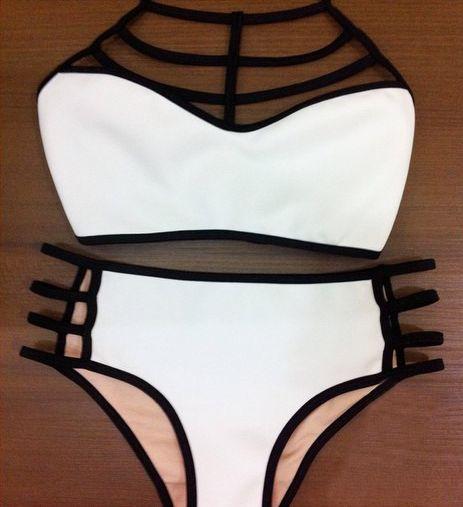 2015 verão top de cintura alta maiô biquíni Swimwear biquinis maiô push up bikini maiô