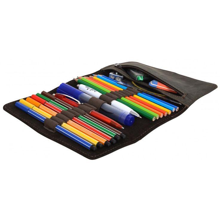 Casper Leather Pencil Case Organizer-32