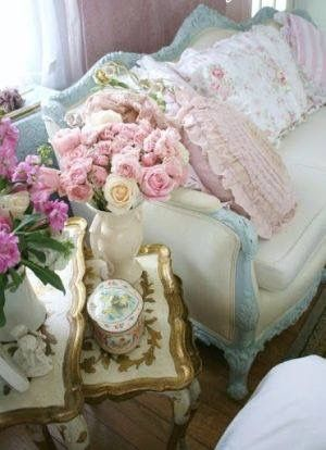 Shabby chic and pretty in pink.