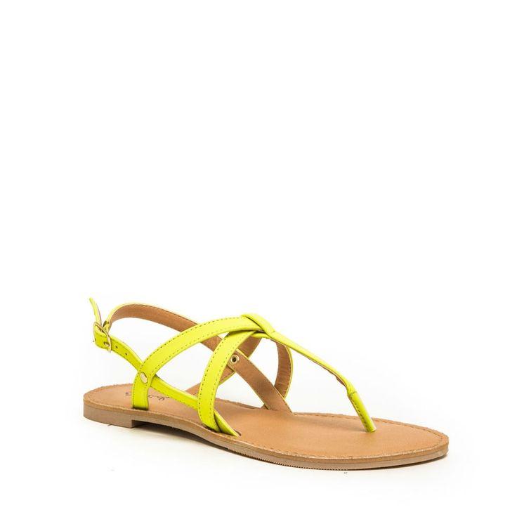 Gillian Neon Yellow Sandals
