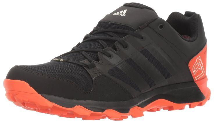 adidas Outdoor Men's Kanadia 7 TR Gore-Tex Trail Running Shoe, Black/Black/Energy, 6 M US