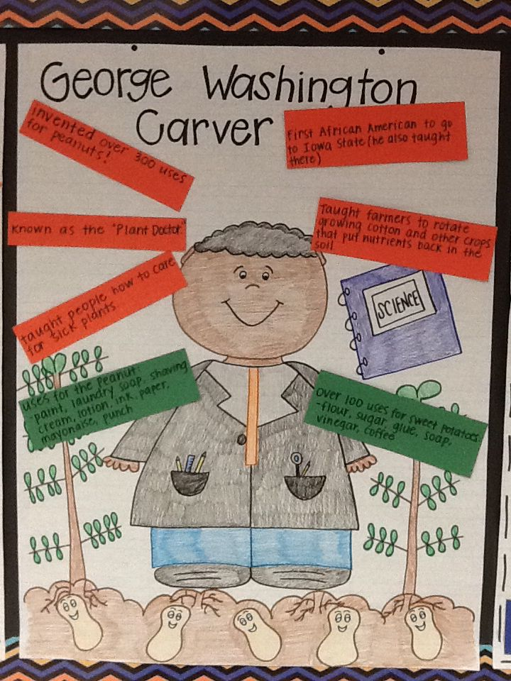 George Washington Carver, first grade, peanuts