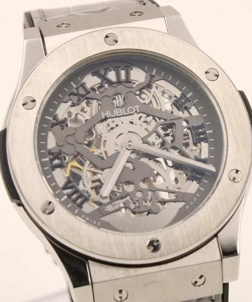 """Hublot Skeleton Dial Stainless Steel Gray Rubber Band Geneve """"Vendome"""" Collection Mens Watch 44mm - Replica Homage Watches for Sale"""