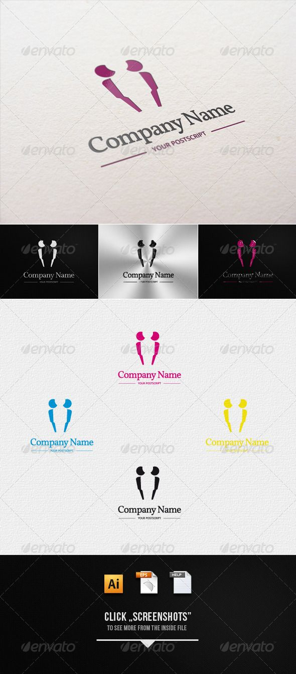 Insurance, Security, Support Logo template - Humans Logo Templates