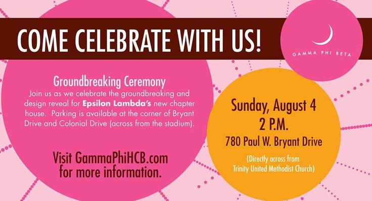 Groundbreaking ceremony #invitation #UAgammaphi | Groundbreaking ...