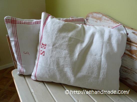 Sy kuddfodral av gamla handdukar