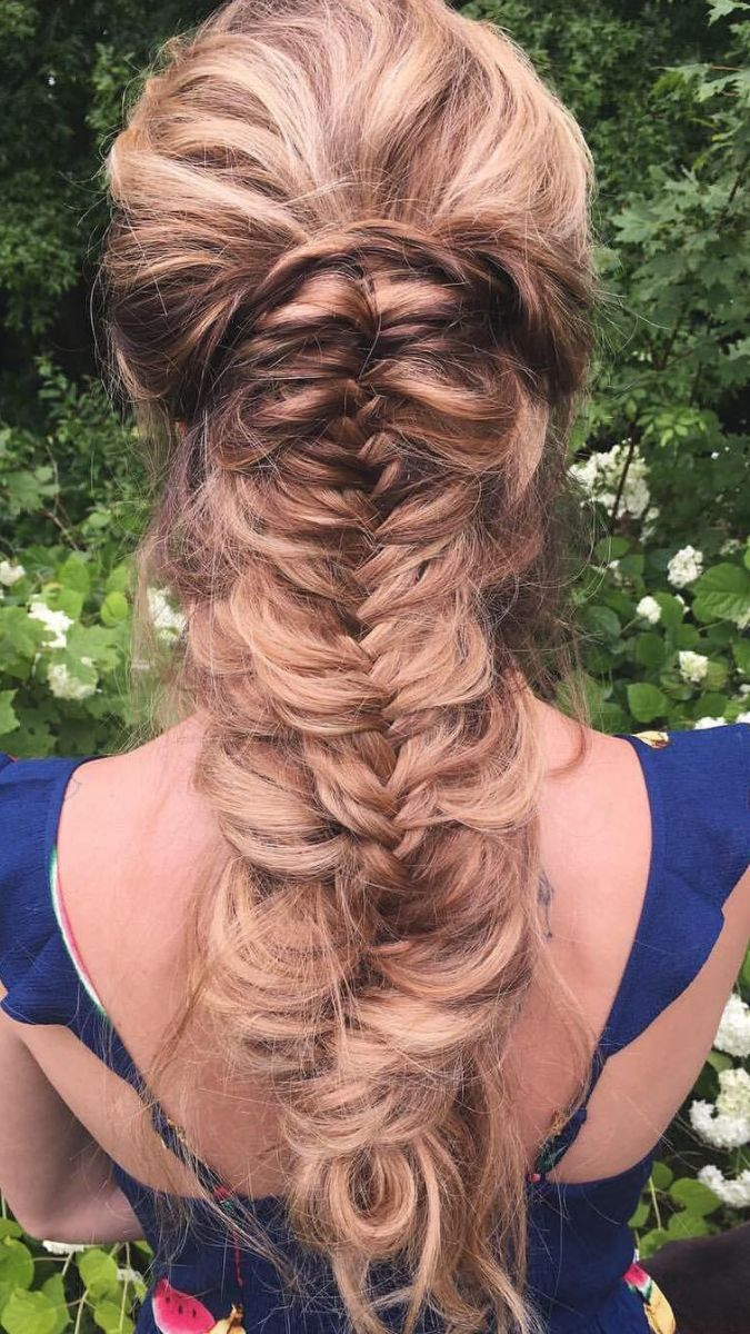 Gorgeous boho braid with@luxyhair extensionsby@glambytoriebliss Btw can you spot the  photobomb?