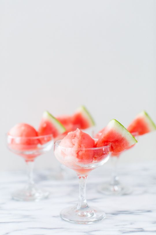 Low Calorie Spiked Watermelon Sorbet Recipe