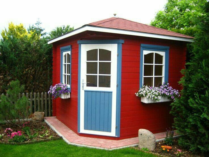Pin Von Laure Peeters Auf Red White Blue Cottage 5 Eck Gartenhaus Gartenhaus Gartenhaus Gmbh